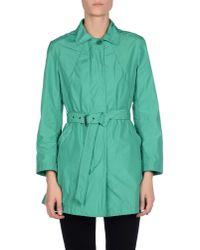 Aspesi | Green Overcoat | Lyst