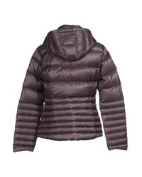 EA7 - Gray Down Jacket - Lyst