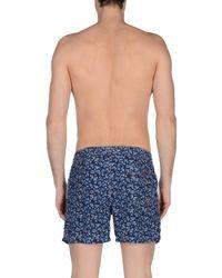Isaia Blue Swimming Trunks for men
