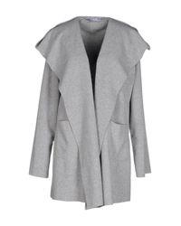 Harris Wharf London - Gray Overcoat - Lyst