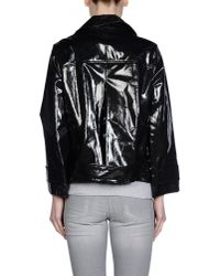 See By Chloé | Black Long-sleeved Quilted Jacket | Lyst