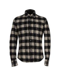 Dolce & Gabbana Black Reversible Tartan Wool Shirt Jacket for men