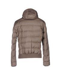 Brunello Cucinelli Gray Down Jacket for men