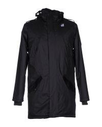 K-Way - Black Coat for Men - Lyst