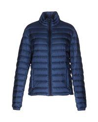 Woolrich - Blue Down Jacket - Lyst