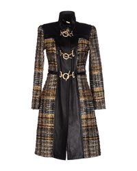 Blumarine | Black Coat | Lyst