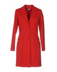 Piu & Piu - Red Overcoat - Lyst