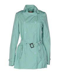Manila Grace Green Overcoat
