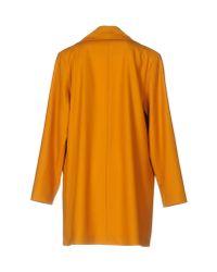 Etienne Deroeux - Orange Overcoat - Lyst