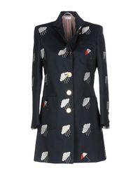 Thom Browne Blue Overcoat