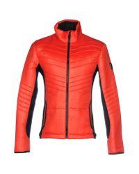 EA7 - Red Jacket for Men - Lyst