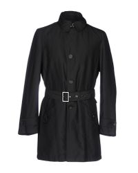 Armani - Black Overcoat - Lyst