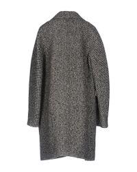 Carven | Black Coat | Lyst