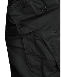 Burberry - Black Overcoat for Men - Lyst