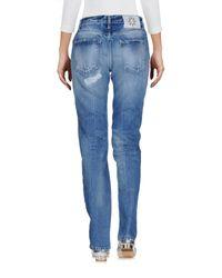 Frankie Morello Blue Denim Pants