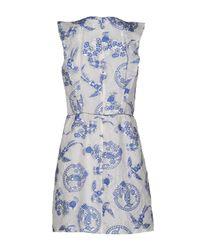 Mauro Grifoni Blue Short Dress