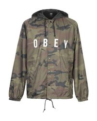 Obey Green Jacket for men