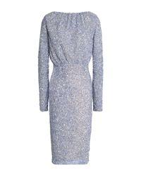 Rachel Gilbert Blue Knielanges Kleid