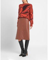 8 by YOOX Brown 3/4 Length Skirt