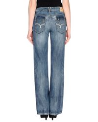 GAUDI - Blue Denim Trousers - Lyst