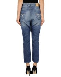GAUDI | Blue Denim Trousers | Lyst