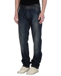 GAUDI   Blue Denim Trousers for Men   Lyst