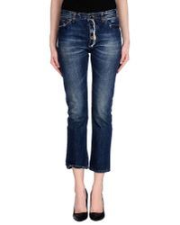 Erika Cavallini Semi Couture | Blue Denim Pants | Lyst