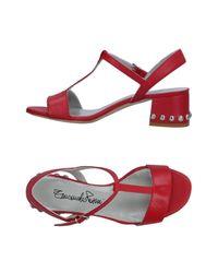 Emanuela Passeri Red Sandals