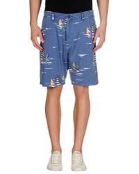 Stussy | Blue Denim Bermudas for Men | Lyst