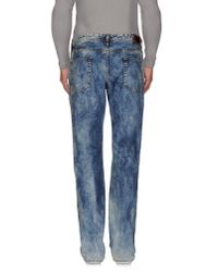 Just Cavalli - Blue Denim Trousers for Men - Lyst