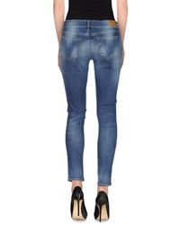 True Religion - Blue Denim Trousers - Lyst