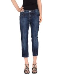 Moschino Jeans - Blue Denim Capris - Lyst