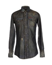 DSquared² - Blue Denim Shirt for Men - Lyst