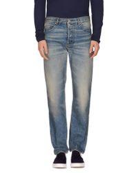 Golden Goose Deluxe Brand   Blue Denim Trousers for Men   Lyst