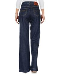RED Valentino - Blue Denim Trousers - Lyst