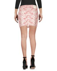 Armani Jeans - Pink Denim Skirt - Lyst
