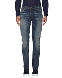 Nudie Jeans Blue Denim Pants for men
