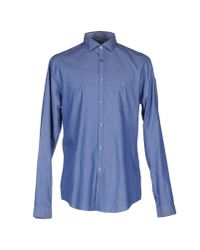 CK Calvin Klein - Blue Denim Shirt for Men - Lyst