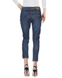 Pinko | Blue Denim Pants | Lyst
