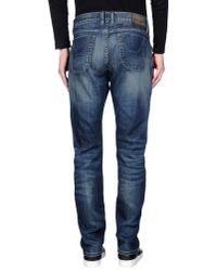 Jeckerson Blue Denim Trousers for men