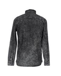 Cheap Monday Black Denim Shirt for men