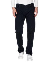 Dondup - Blue Denim Trousers for Men - Lyst