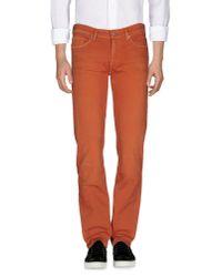 7 For All Mankind - Brown Denim Pants for Men - Lyst