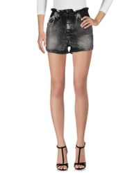 SuperTrash - Gray Denim Shorts - Lyst