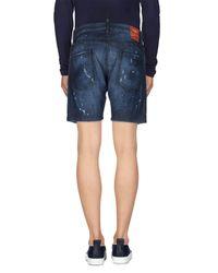 DSquared² - Blue Denim Shorts for Men - Lyst