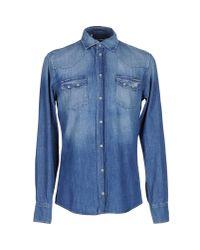 Dolce & Gabbana | Blue Denim Shirt for Men | Lyst