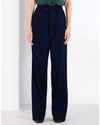 Iris & Ink Blue Denim Trousers