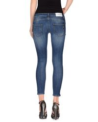 Annarita N. - Blue Denim Trousers - Lyst