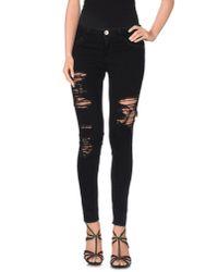Haikure Black Denim Trousers