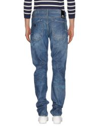 Denham - Blue Denim Trousers for Men - Lyst
